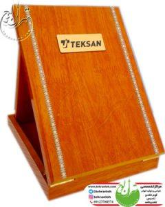 تقدیرنامه با جعبه چوبی نوارخاتم